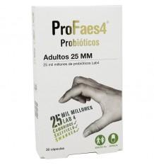 Profaes 4 Probiotiques Adultes de 25 mm 30 capsules