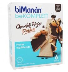 Bimanan Bekomplett Gaufrettes Au Chocolat Noir Praliné 6 Collations