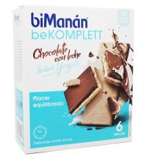 Bimanan Bekomplett Wafer Chocolate, Leite, Iogurte 6 Lanches