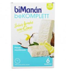 Bimanan Bekomplett Barritas Limon con Coco 6 Unidades