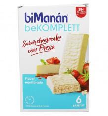 Bimanan Bekomplett Cheesecake com Morango 6 Barrinhas
