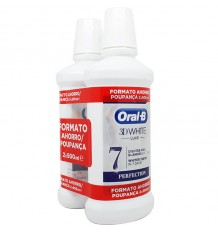 Oral B 3D White Luxe Mouthwash 500ml Duplo Promotion