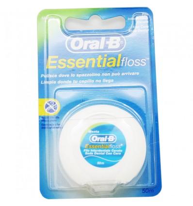 Oral B Essential Floss Seda Dental Menta 50m