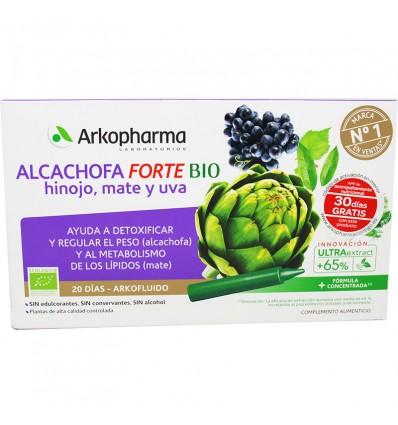 Arkofluido Artichoke Fennel Matte and Grape Bio 20 Ampoules