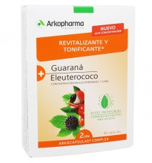 Arkocapsulas Complex Revitalizante Tonificante Guarana Eleuterococo 40 Capsulas