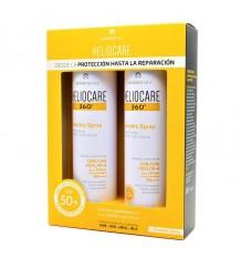 Heliocare 360 Invisible Spray sur la Peau Mouillée de 200 ml à Double Alimentation