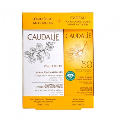 Caudalie Vinoperfect Sérum de 30 ml Solaire Spf50 25 ml-cadeau