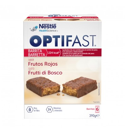 Optifast Bars Red Fruits 6 units