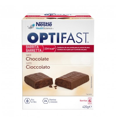Optifast Bars Chocolate 6 units