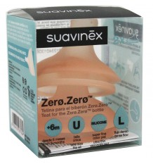 Suavinex Zero Zero Tetina Silicona L Flujo Rapido 2 Unidades