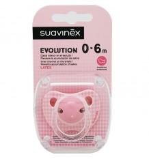 Suavinex Schnuller Evolution Latex 0-6 Monate, Rosa