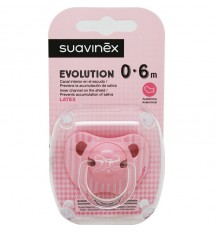 Suavinex Chupete Evolution Latex 0-6 meses Rosa Lazo