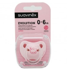 Suavinex Chupete Evolution Latex 0-6 meses Rosa Pato