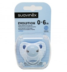Suavinex Schnuller Evolution Latex 0-6 Monate Blau