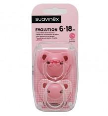 Suavinex Pacifier Evolution Latex 6-18m Pink Tie