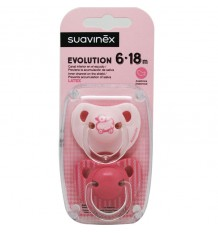 Suavinex Chupete Evolution Latex 6-18m Rosa Pato