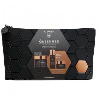 Apivita Queen Bee Light 50 ml + Cream Night 15 ml + Serum 10 ml