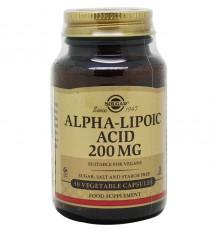Acid Alpha Lipoic acid 200mg Solgar 50 Capsules Vegetables