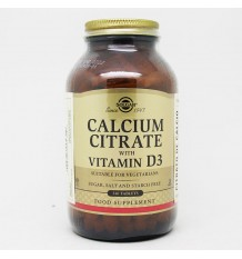 Solgar Citrate Calcium with Vitamin D3, 240 Tablets
