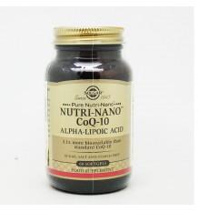 Solgar Nutri-Nano Coenzyme Q10, Alpha Lipoic Acid 60 Pearls
