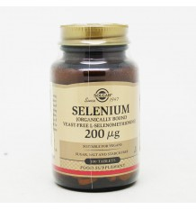Solgar Selenium 200 mcg Without Yeast 100 Tablets