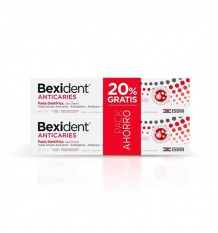 Bexident Dentifrice anti-caries 125ml + 125ml Duplo