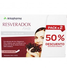 Resveradox Forte Duplo Ahorro Arko 60 capsulas