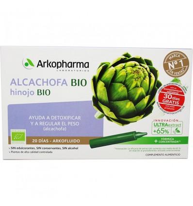 Arkofluido Alcachofa Hinojo Bio 20 Ampollas
