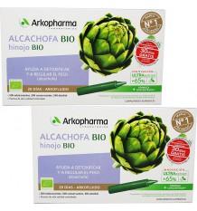 Arkofluido Artichaut Fenouil Bio 20 + 20 Ampoules