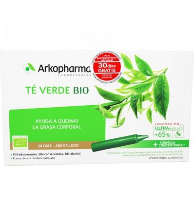 Arkofluido Te Verde Bio 20 Ampollas