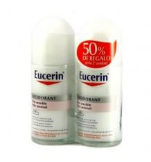 Déodorant Eucerin Roll Sur Peau Sensible 50ml + 50ml Duplo
