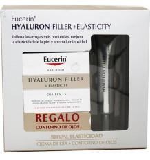 Eucerin Hyaluron Filler Elasticity Crema Dia FPS15 50 ml Contorno Gratis