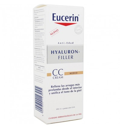 Eucerin Hyaluron Filler CC Cream Fps15 Médio 50 ml