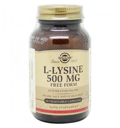 Solgar L-Lisina 500 mg 50 Capulas