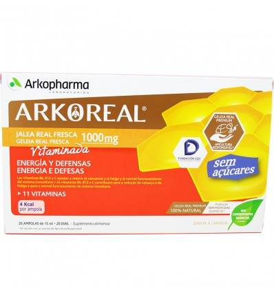 Arkoreal Royal Jelly 1000 Bastard Without Sugars, 20 Blisters