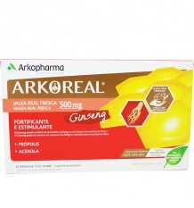 Arkoreal Jalea Real 500 Ginseng 20 Ampollas