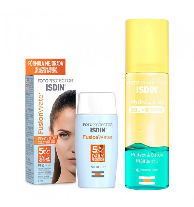 Isdin fusion Water Spf 50+ 50 ml+Hydrolotion Spf50 200 ml Pack