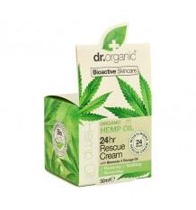 Dr Organic Crema Rescate 24 Hr Aceite Cañamo 50 ml