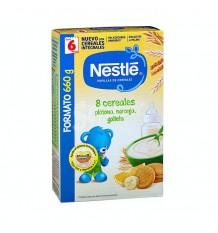 Nestle 8 Cereais Banana Laranja Biscoito 660g