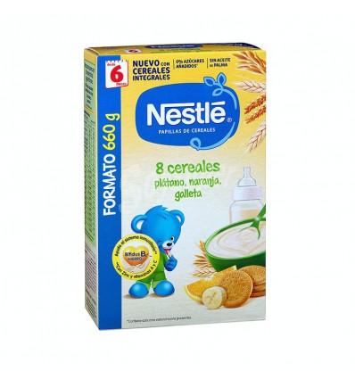 Nestle 8 Cereales Platano Naranja Galleta 660g