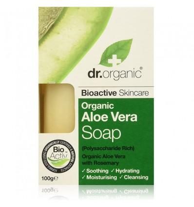 Dr Organic Jabon Pastilla Aloe Vera 100g