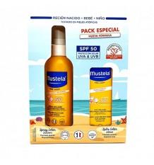 Mustela Sun Spray 50 Soleil Verre de 200 ml+Lait de Soleil 50 40ml