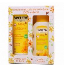 Weleda Calêndula Pack Shampoo 200ml + Leite Corporal Bebê 200ml