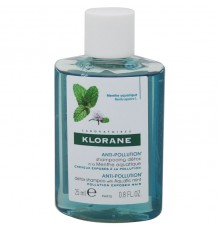 Klorane Shampoo Minze Anti-Verschmutzung 25 ml Größe Mini