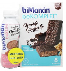 Bimanan Bekomplett Chocolate Crujiente 8 unidades + Smoothie Chocolate 330ml