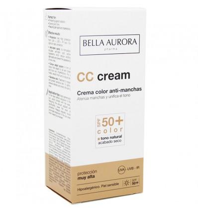 Bella Aurora Protect Crema color Spf50 Tono Medio 30 ml