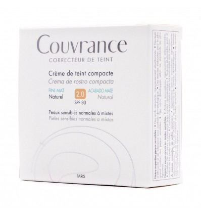 Avene Couvrance Compacta Acabado Mate 2.0 Natural