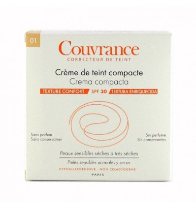 Avene Couvrance Compacto 1.0 Porcelana Confort Pieles Secas