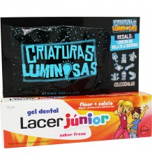 Lacer Junior Gel Fresa 75 ml Pack + Criaturas Luminosas