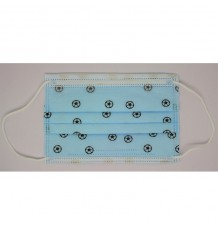 Mascarilla Higienica Infantil Azul Balones 10 Unidades